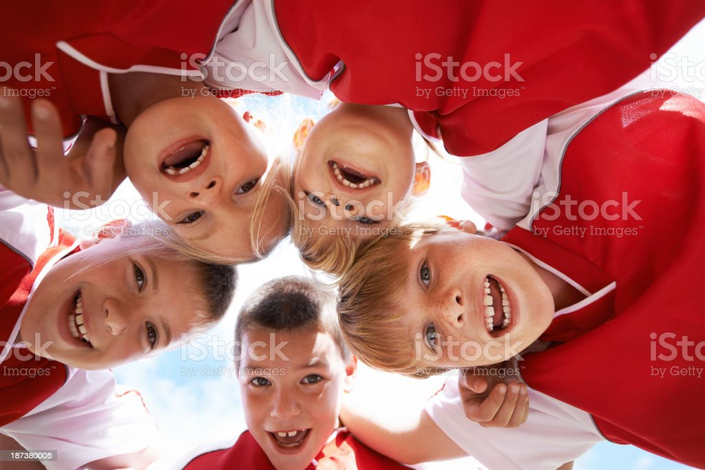 Friendship and teamwork are equally important royalty-free stock photo