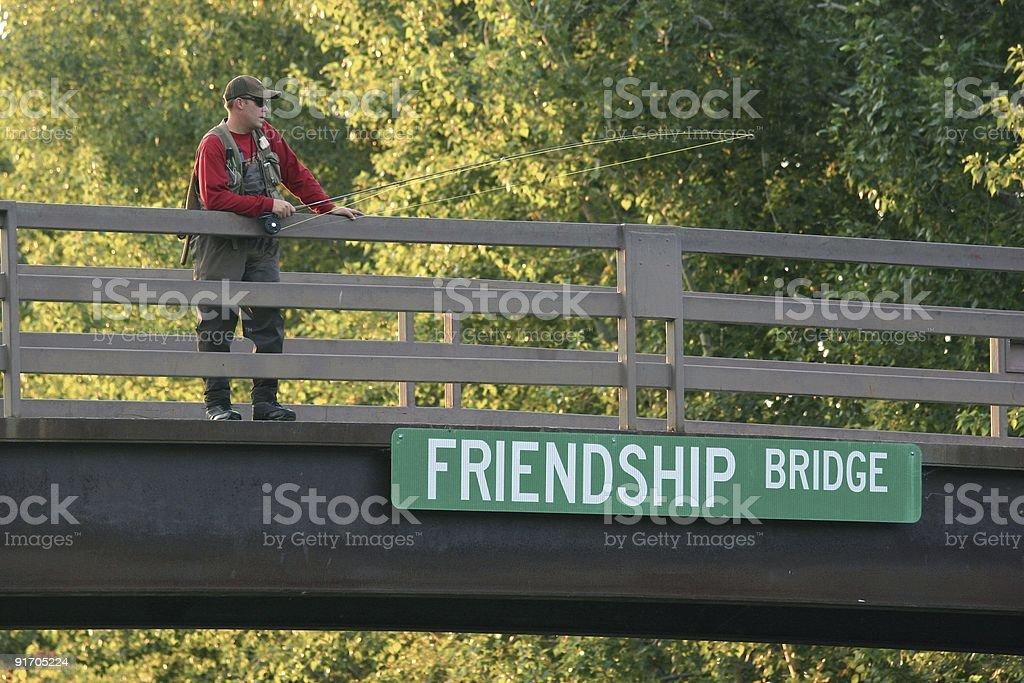 Friendship Bridge royalty-free stock photo