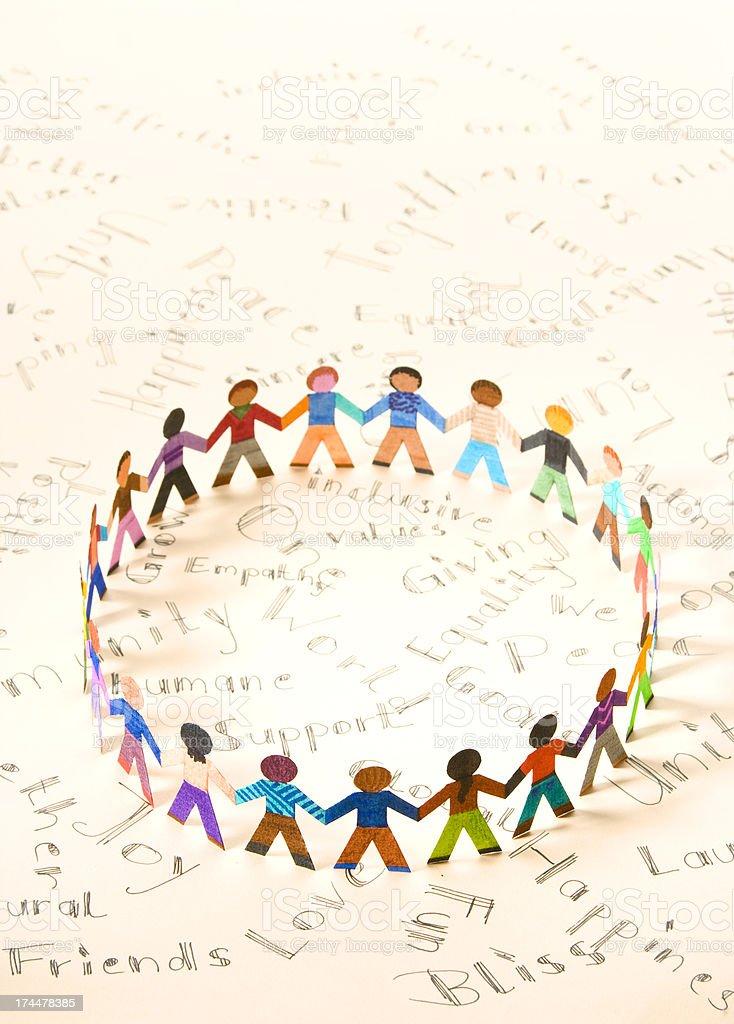 Friendship circle royalty-free stock photo