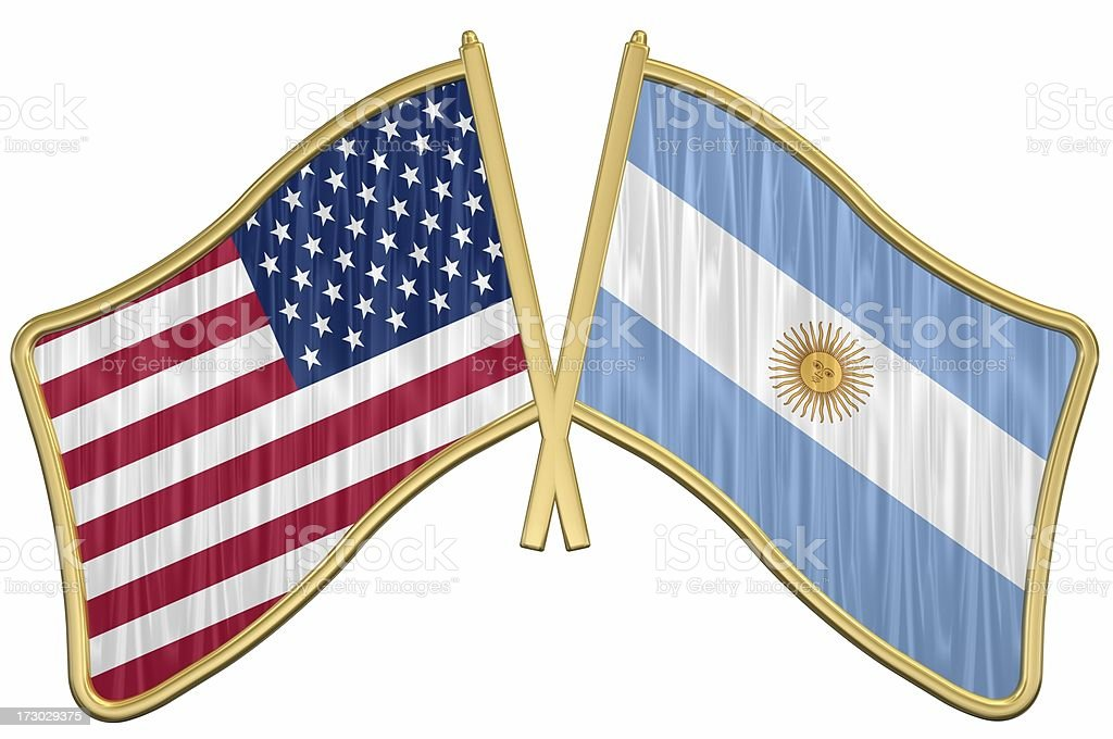 US Friendship Flag Pin - Argentina royalty-free stock photo
