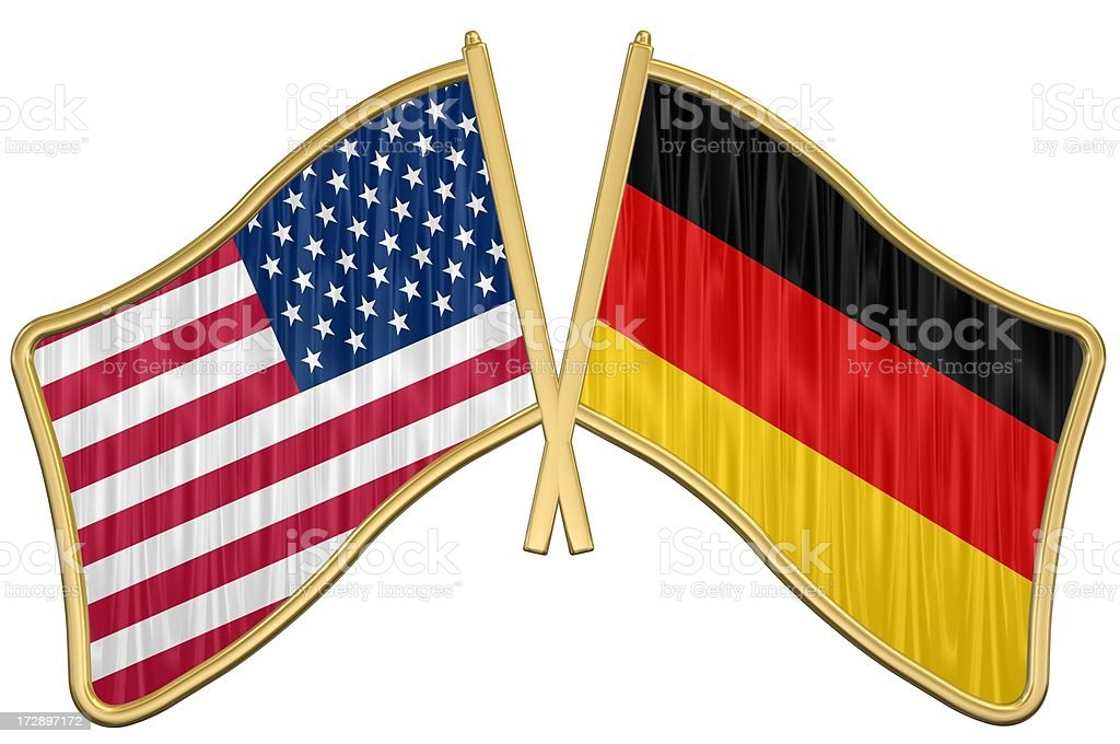 US Friendship Flag Pin - Germany royalty-free stock photo