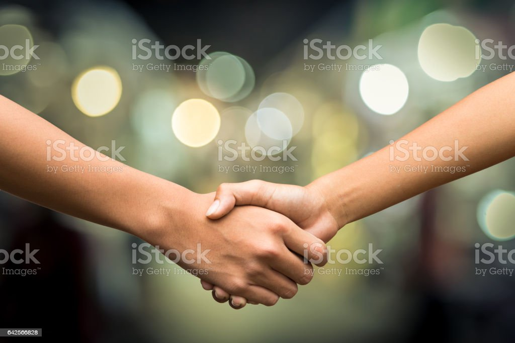 friendship.checkhand stock photo