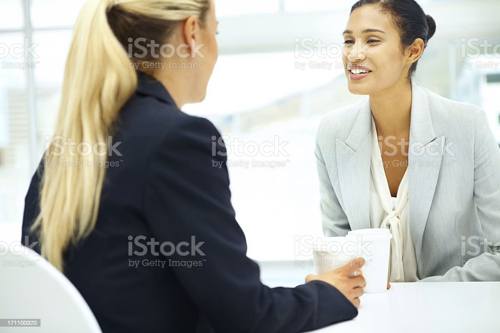 Friendships formed in the workplace royalty-free stock photo
