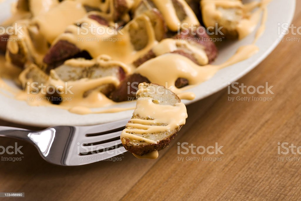 fries with cheese royalty-free stock photo
