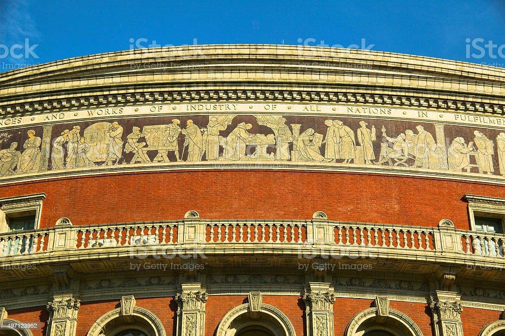 Frieze of the Royal Albert Hall stock photo