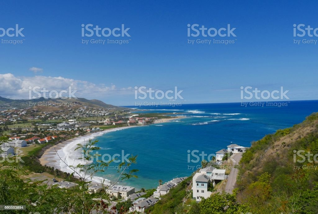 Frigate Bay, St Kitts, West Indies stock photo