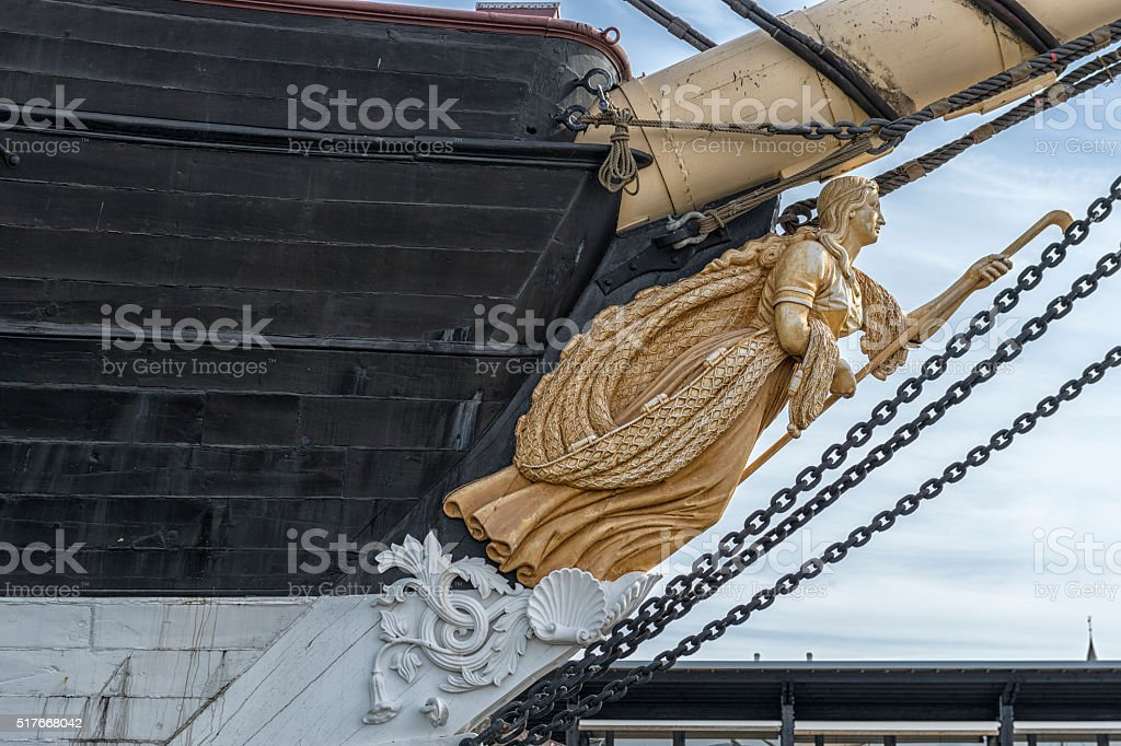 Frigate Jutland Figurehead stock photo