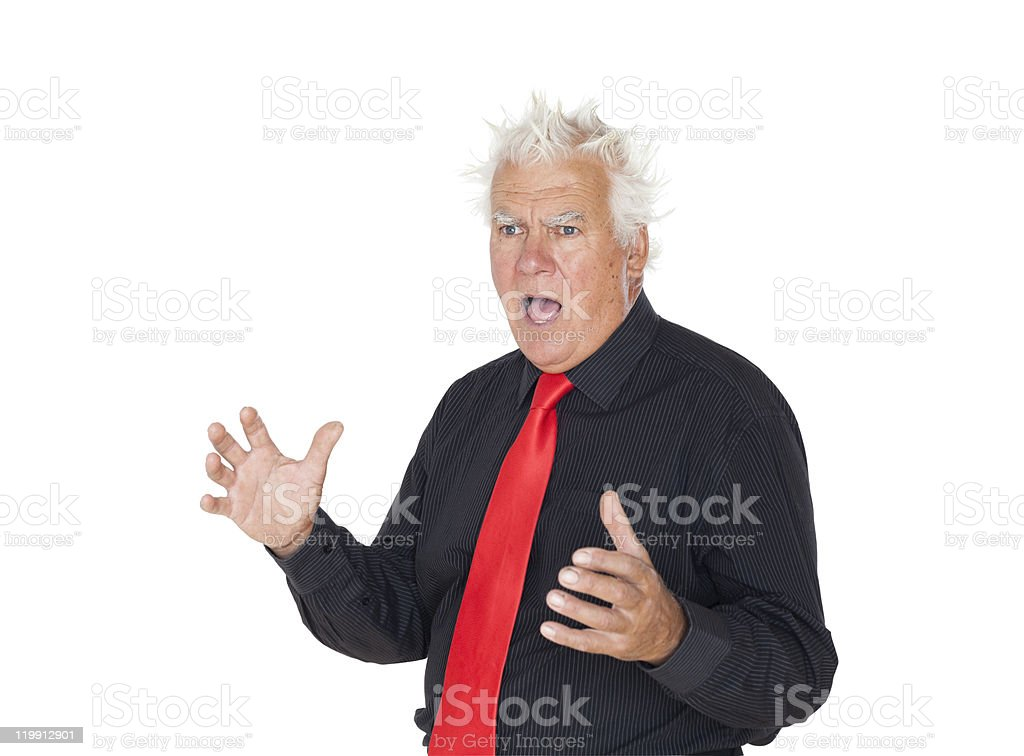 Frighten manager. royalty-free stock photo
