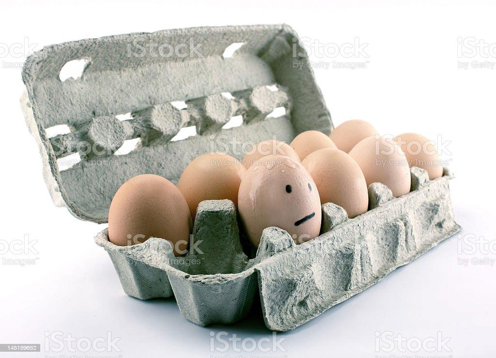 frightened egg royalty-free stock photo