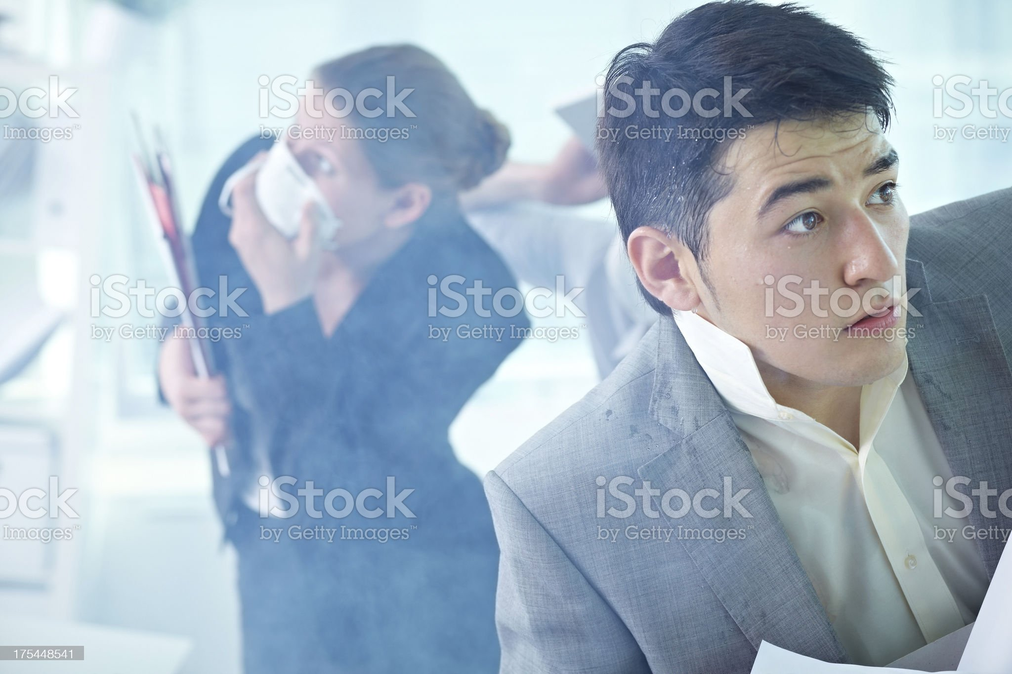 Frightened manager royalty-free stock photo