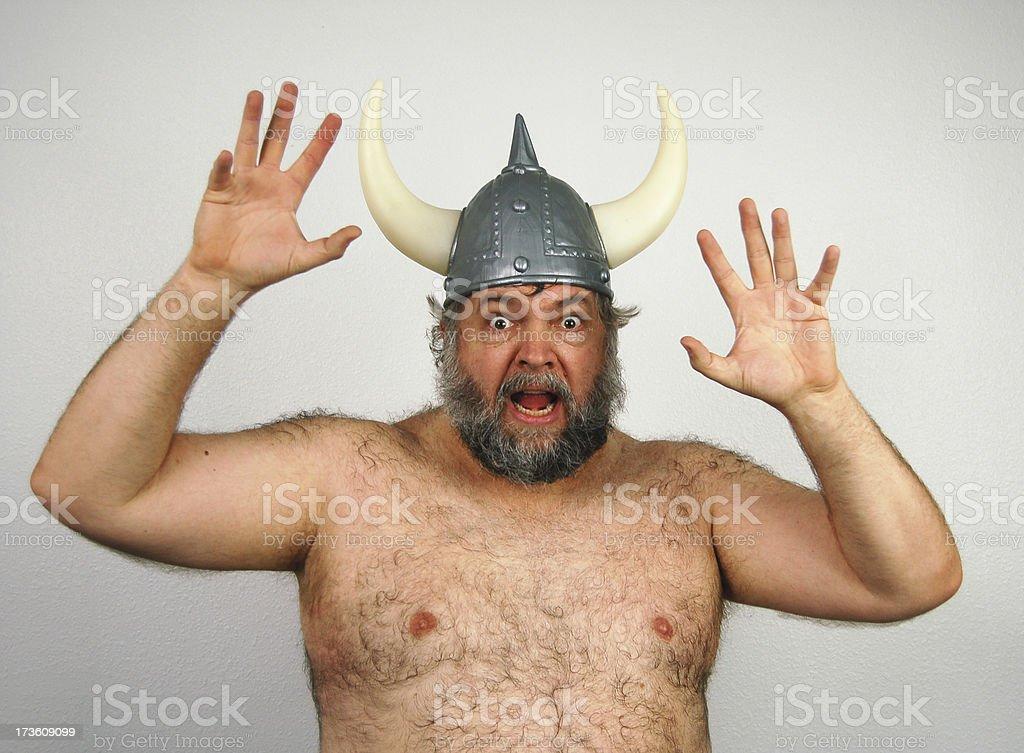 Frightened Viking royalty-free stock photo