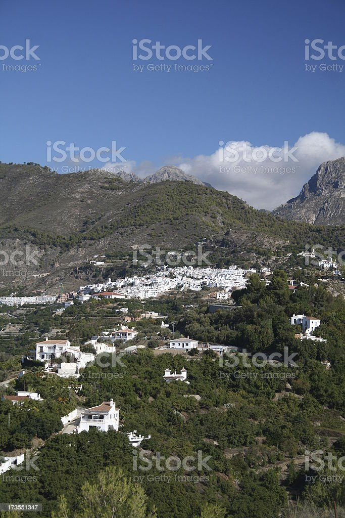 Frigiliana Spanish hillside white village. Southern Spain #1 royalty-free stock photo