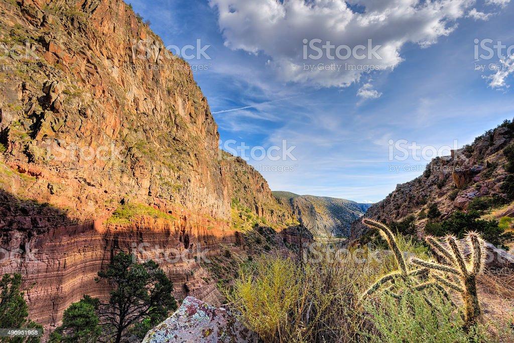 Frijoles Canyon, Bandelier National Park stock photo