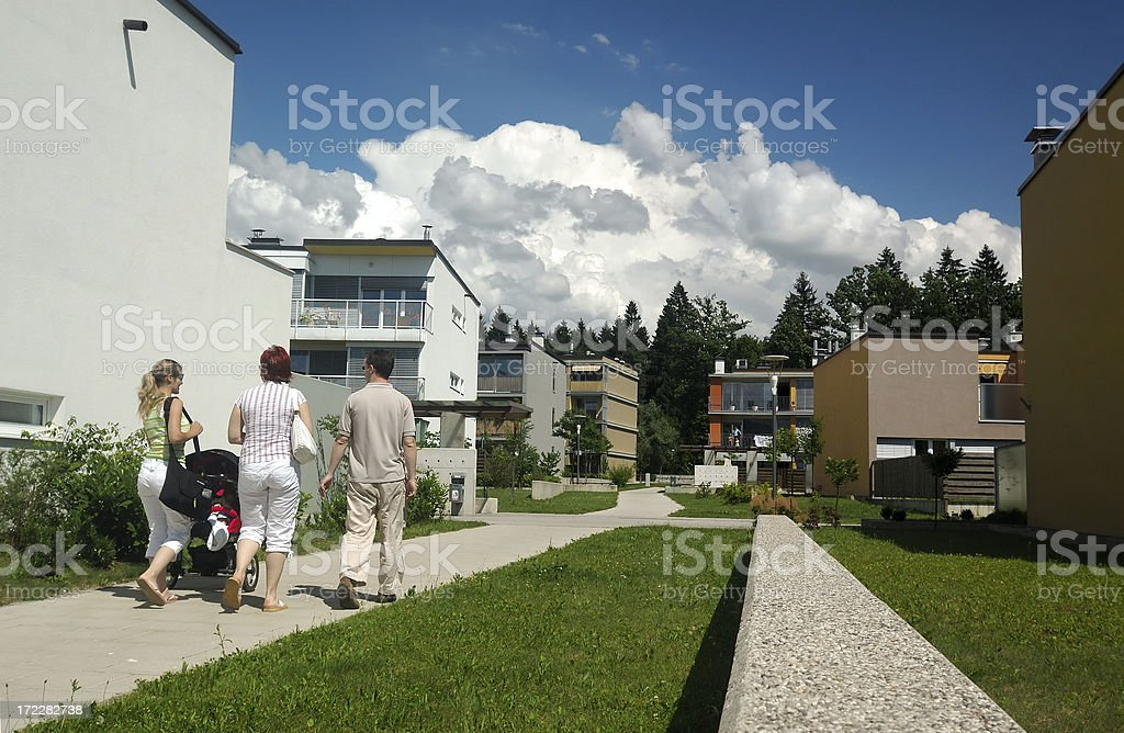 Frinds walking home royalty-free stock photo