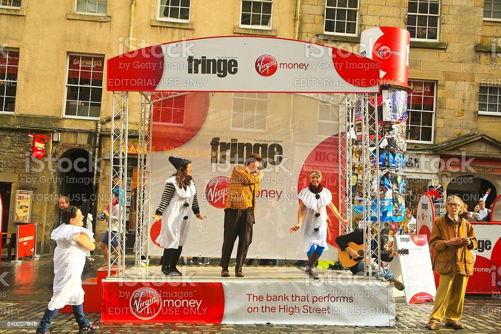 Fringe Theatre, Royal Mile, Edinborough, UK stock photo