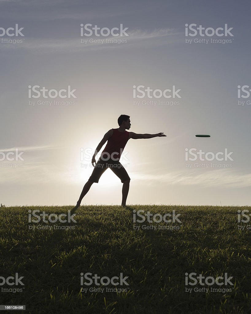 Frisbee fun royalty-free stock photo