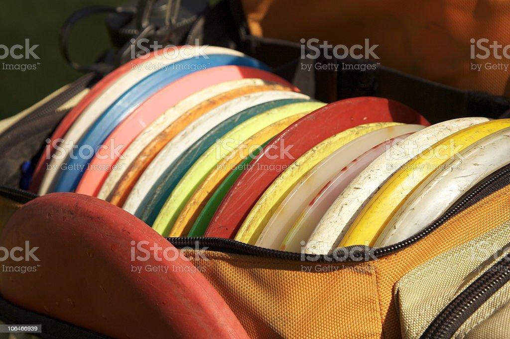 Frisbee golf stock photo