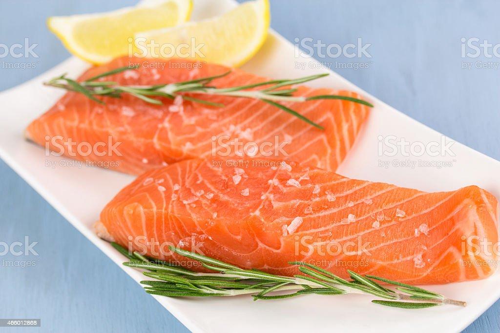 frischer Lachs stock photo
