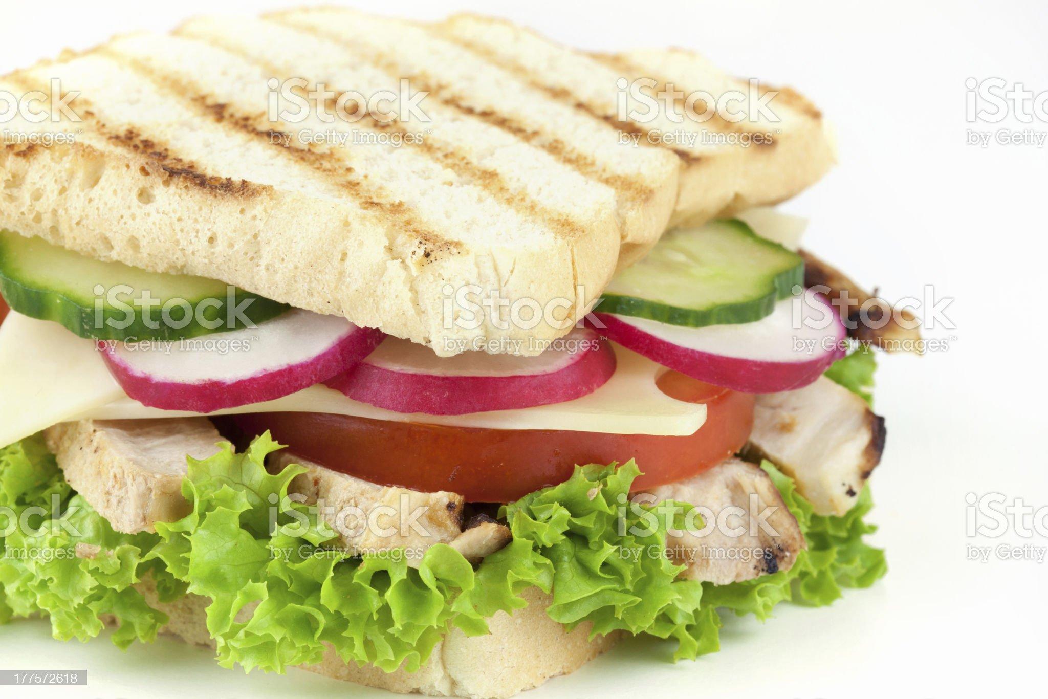 frisches sandwich mit h?nchenfleisch royalty-free stock photo