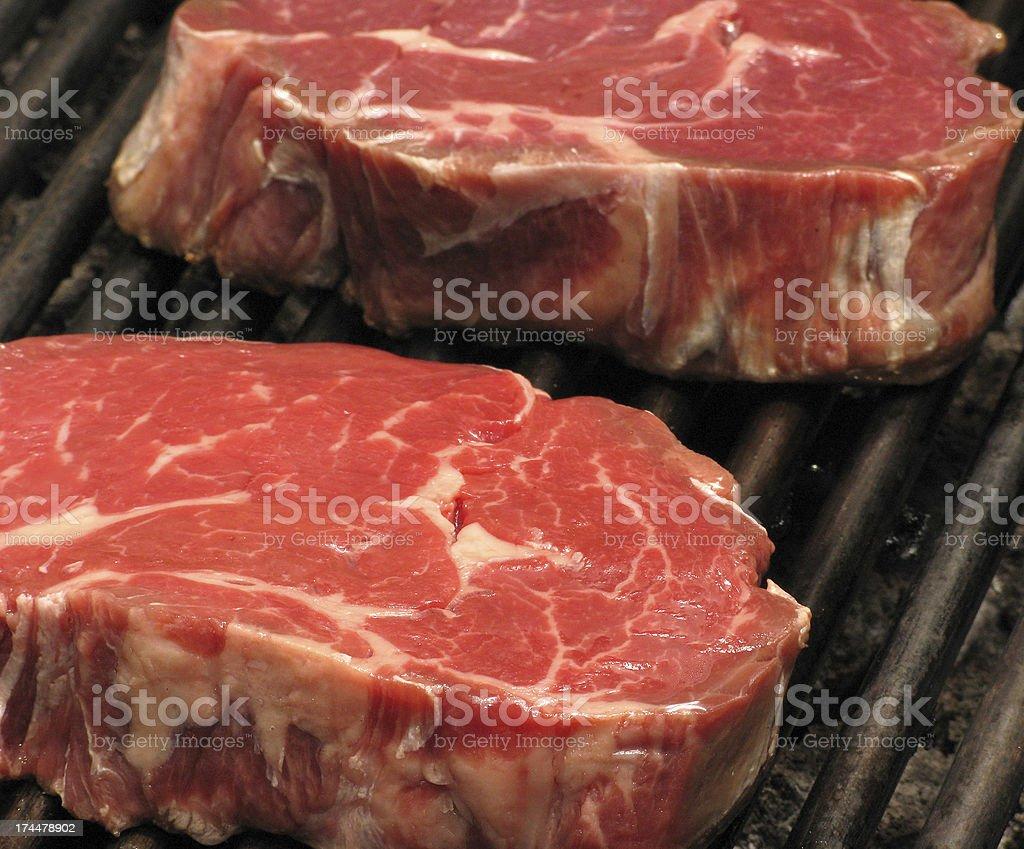 Frischfleisch Ribeye steak royalty-free stock photo