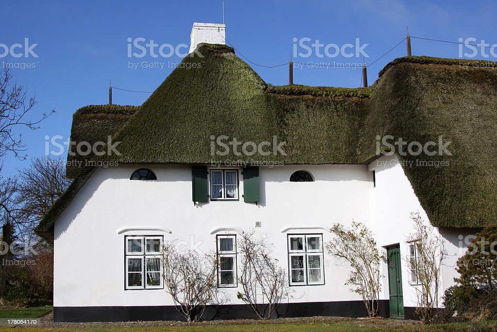 Frisian house in Keitum on Sylt stock photo