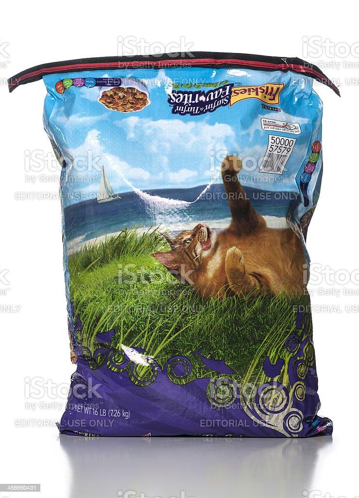 Friskies Surfin' & Turfin' Favorites Dry Cat Food stock photo