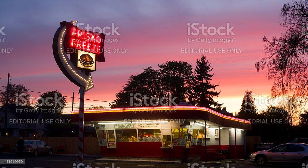 Frisko Freeze Popular Historical Drive-In Hamburger Restaurant Tacoma Washington royalty-free stock photo