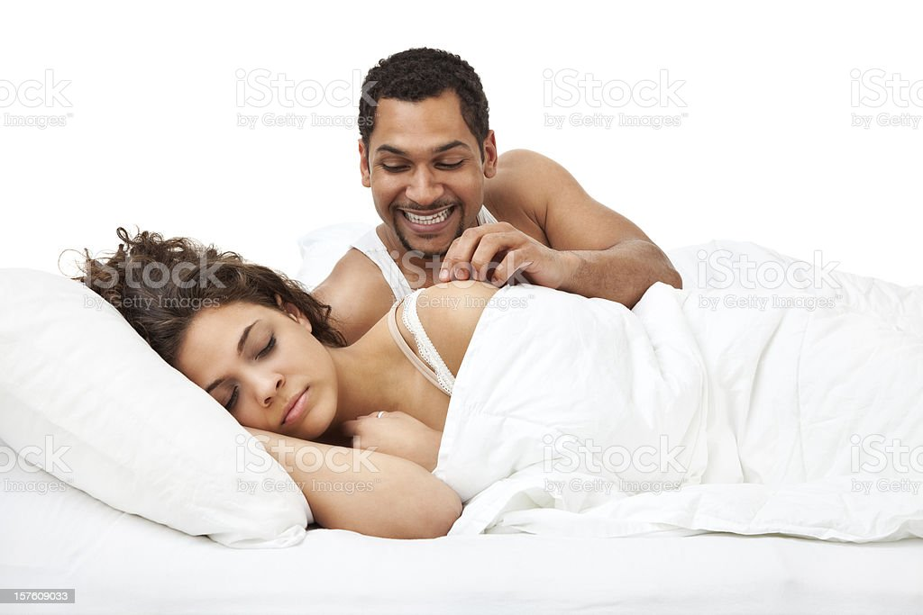 Frisky Husband royalty-free stock photo