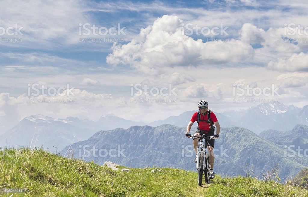 Friulian Mountainbiking, Italy stock photo