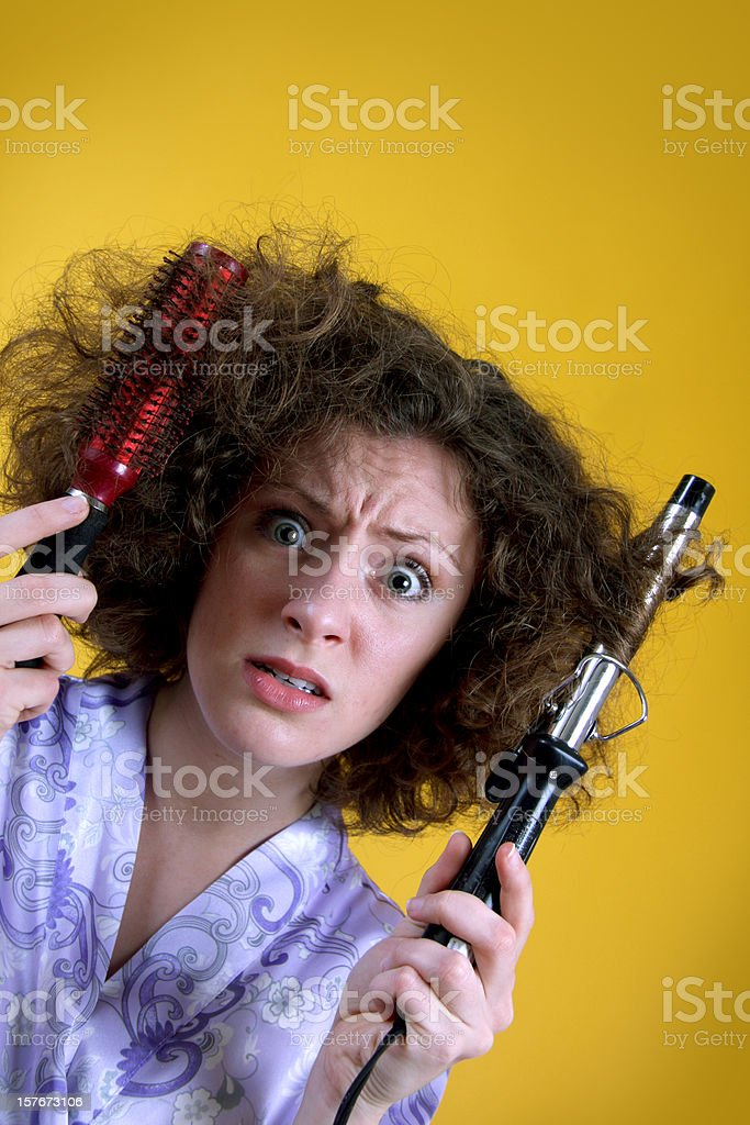 Frizzed Hair Trouble royalty-free stock photo