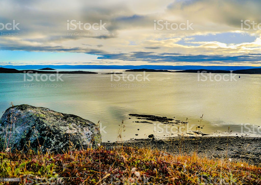 Frobisher bay stock photo