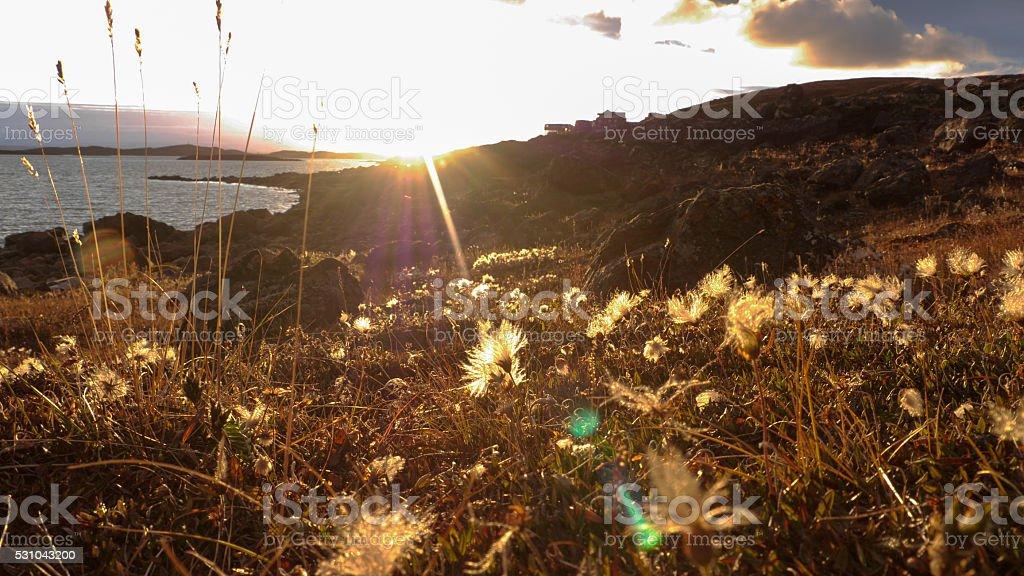 Frobisher Bay sunset stock photo