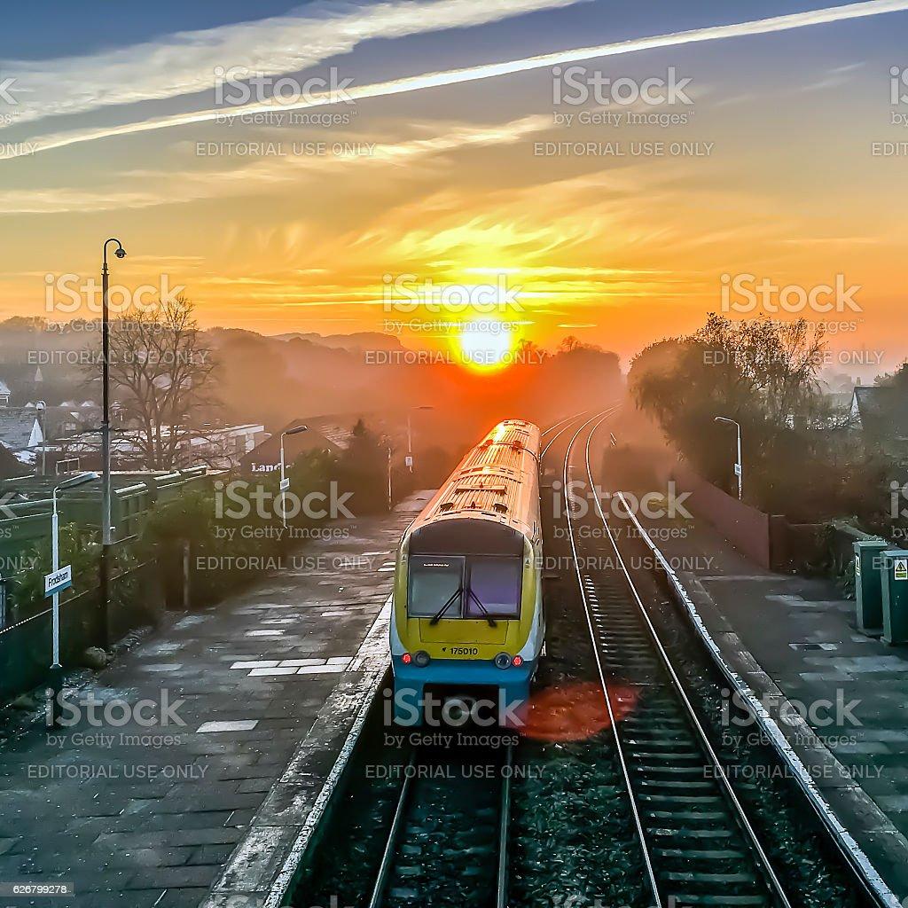 Frodsham Sunset stock photo