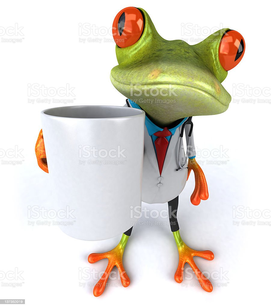Frog doctor royalty-free stock photo