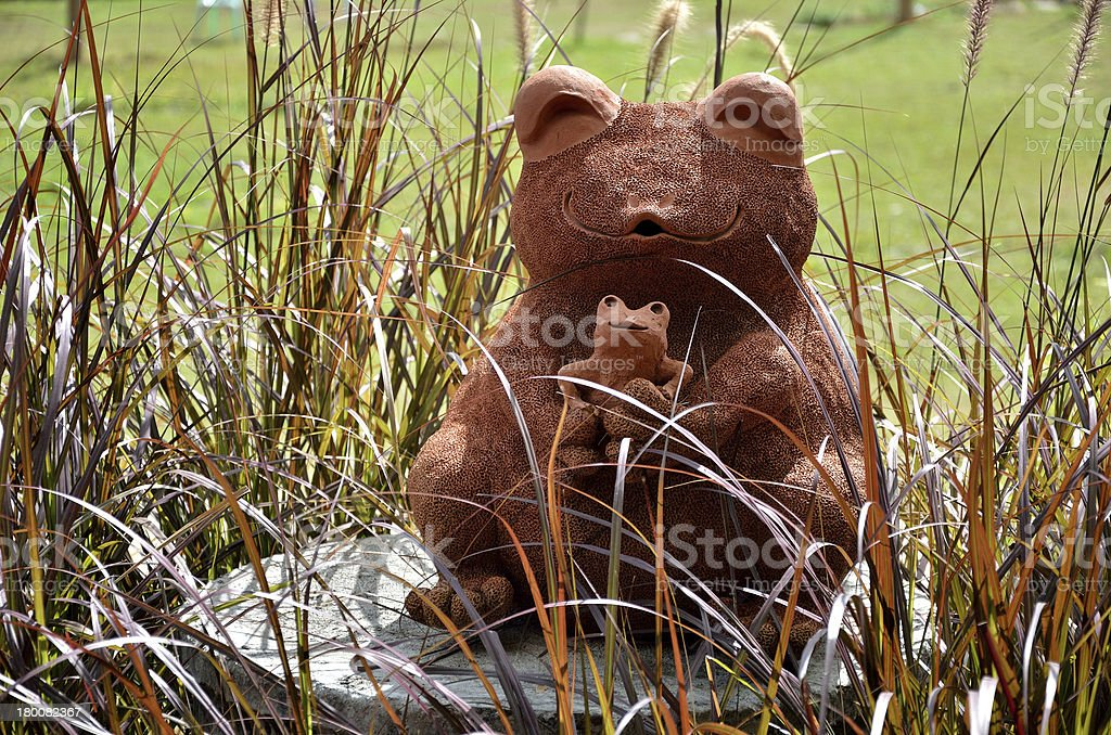 Frog earthenware sculpture royalty-free stock photo
