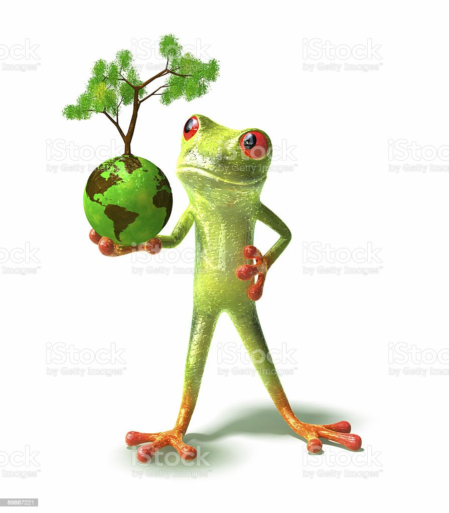 Frog in a green world royalty-free stock photo
