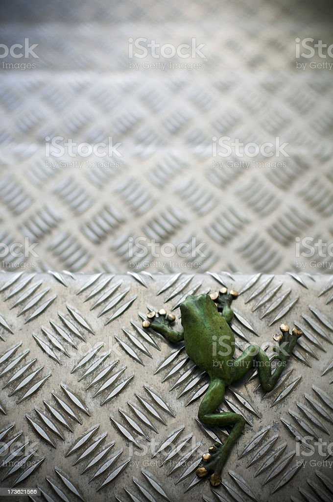 Frog staircase Industrial environment stock photo