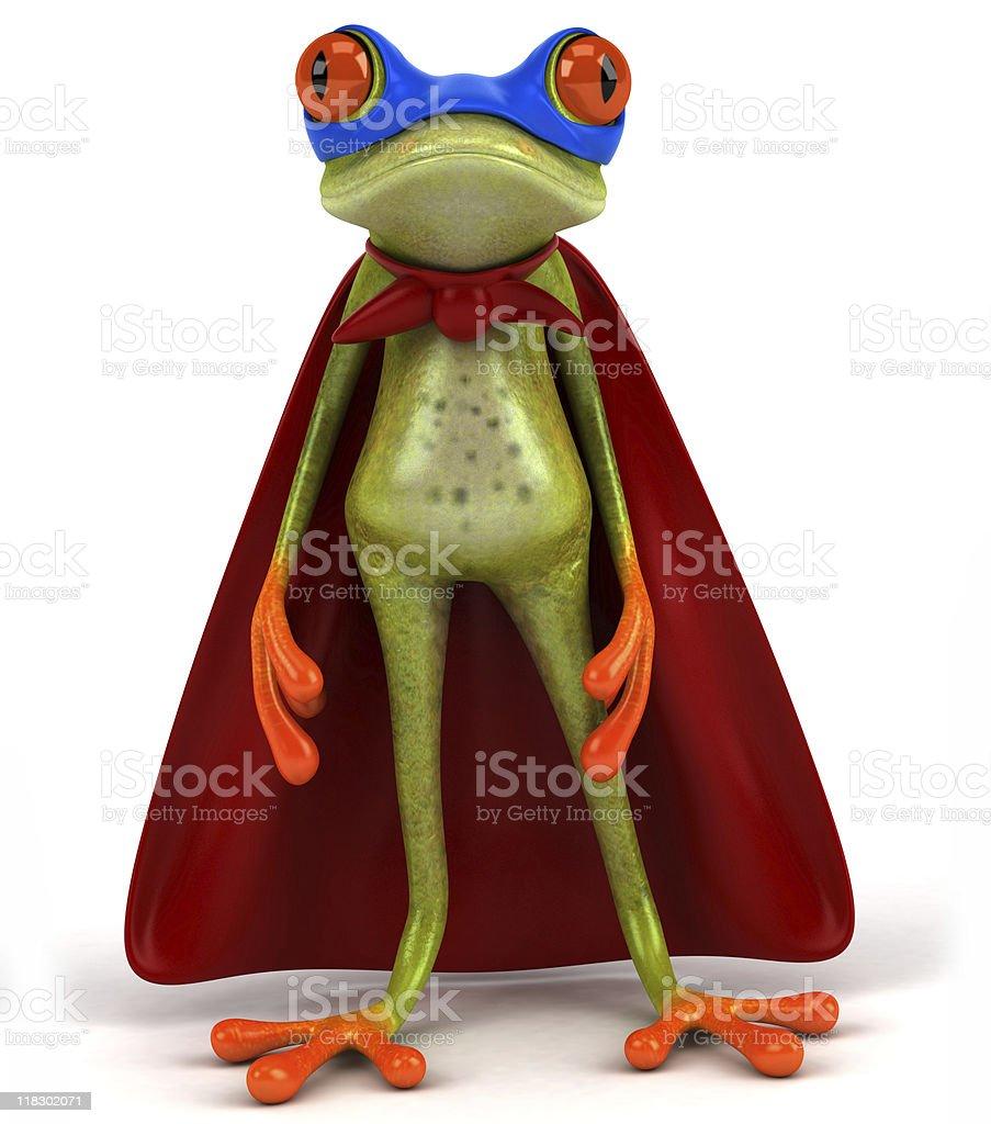 Frog superhero stock photo