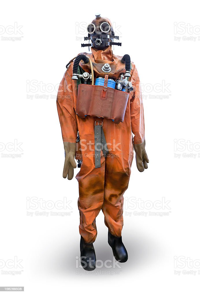 Frogman equipment stock photo
