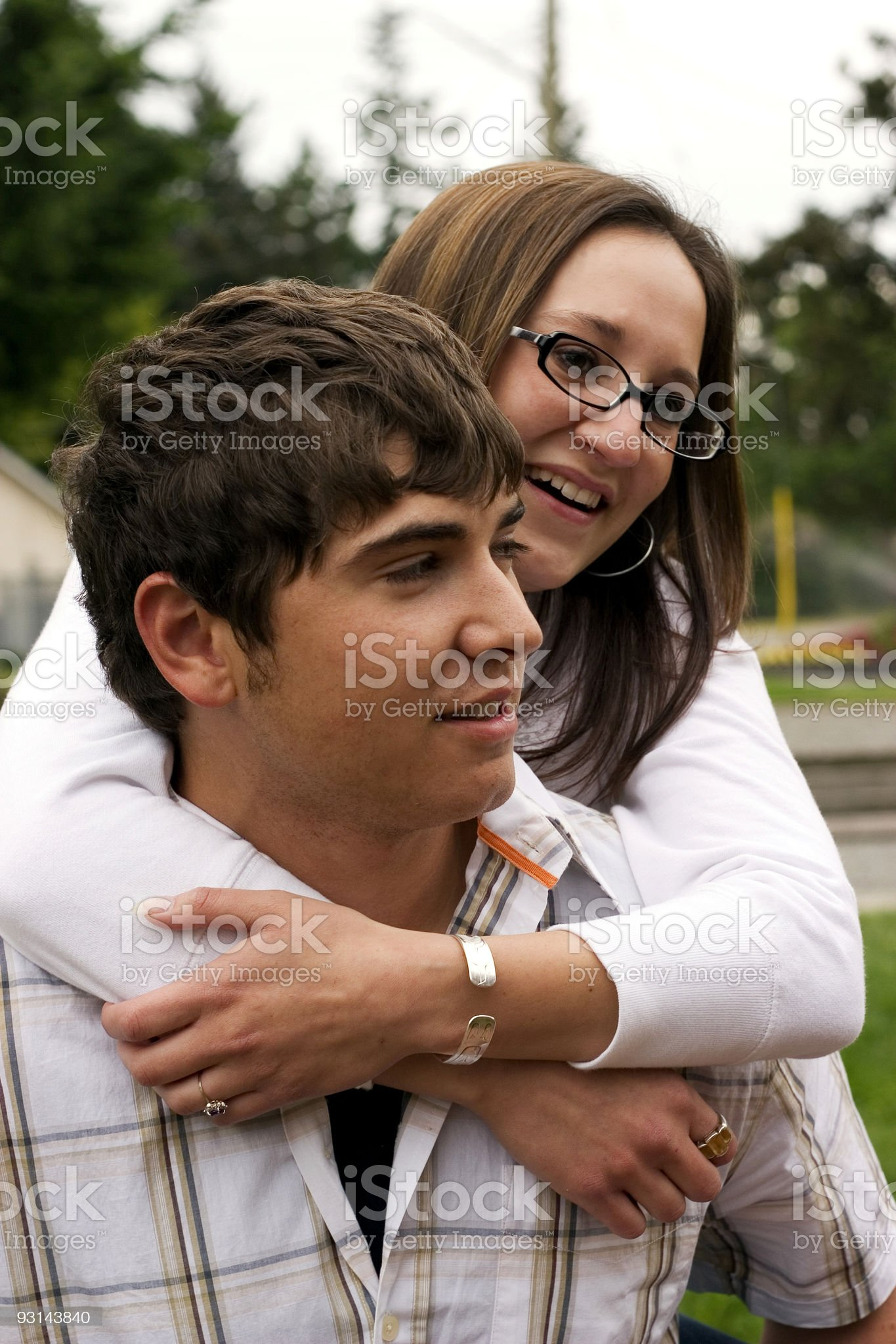 Frolicing couple royalty-free stock photo