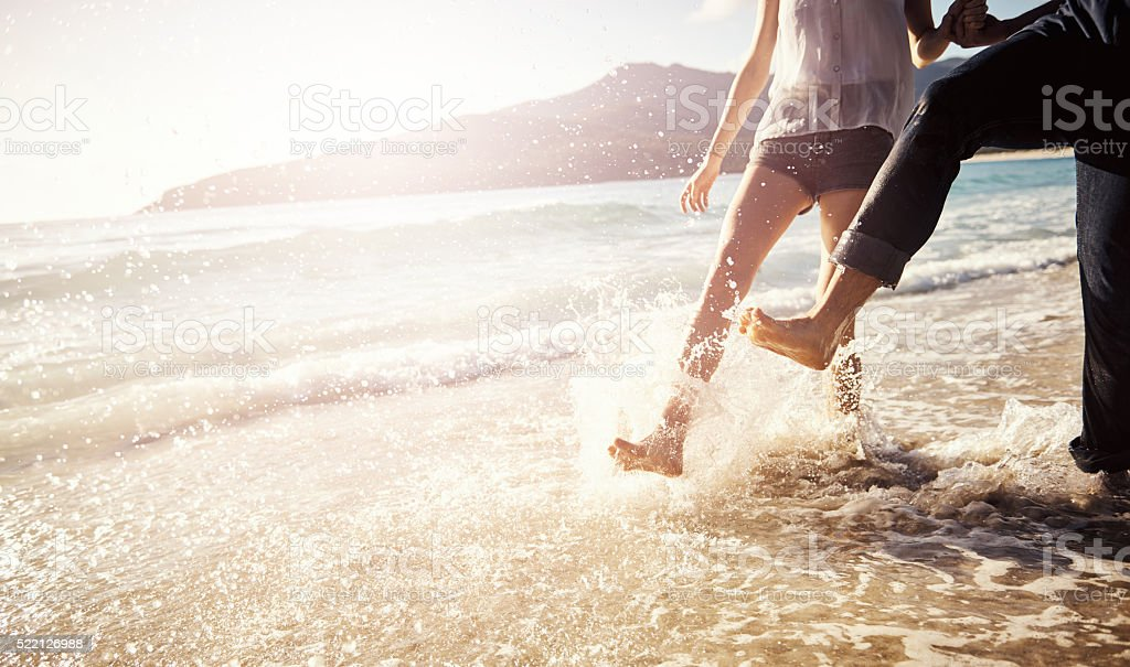 Frolicking good fun stock photo