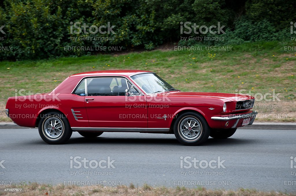 FORD MUSTANG from 1966 stock photo