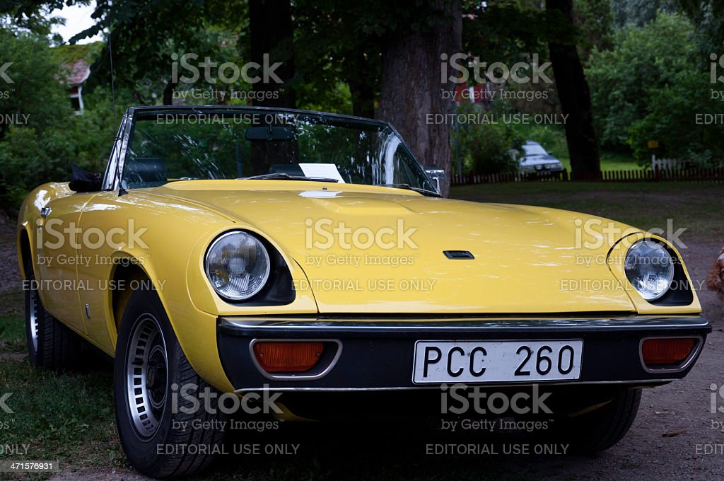 JENSEN HEALEY from 1973 stock photo