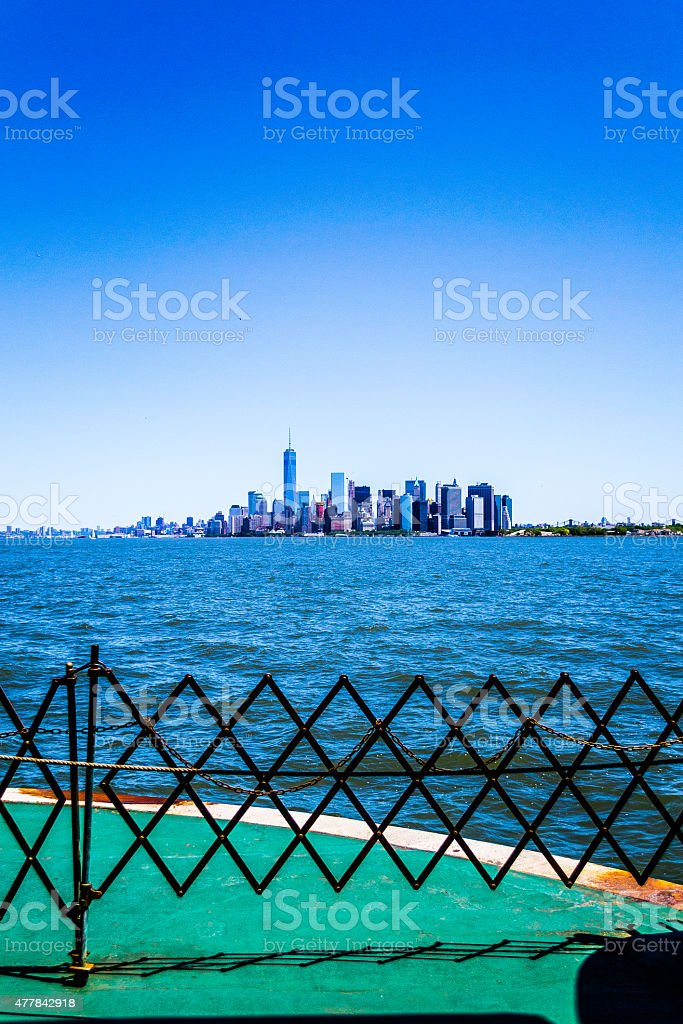 From a deck facing Manhattan stock photo