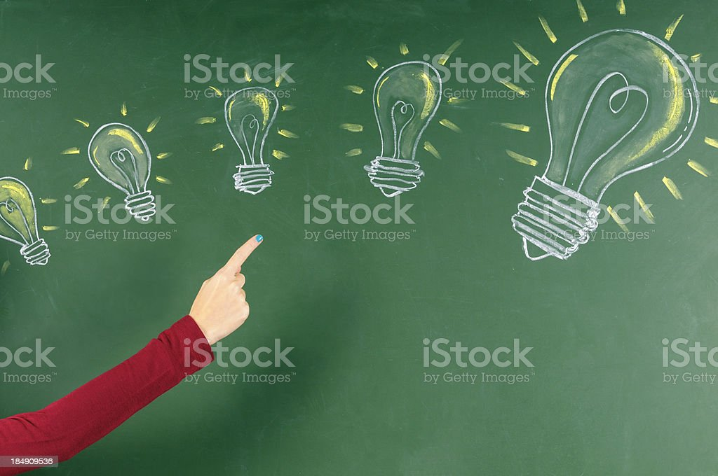 from a small idea to a big one royalty-free stock photo