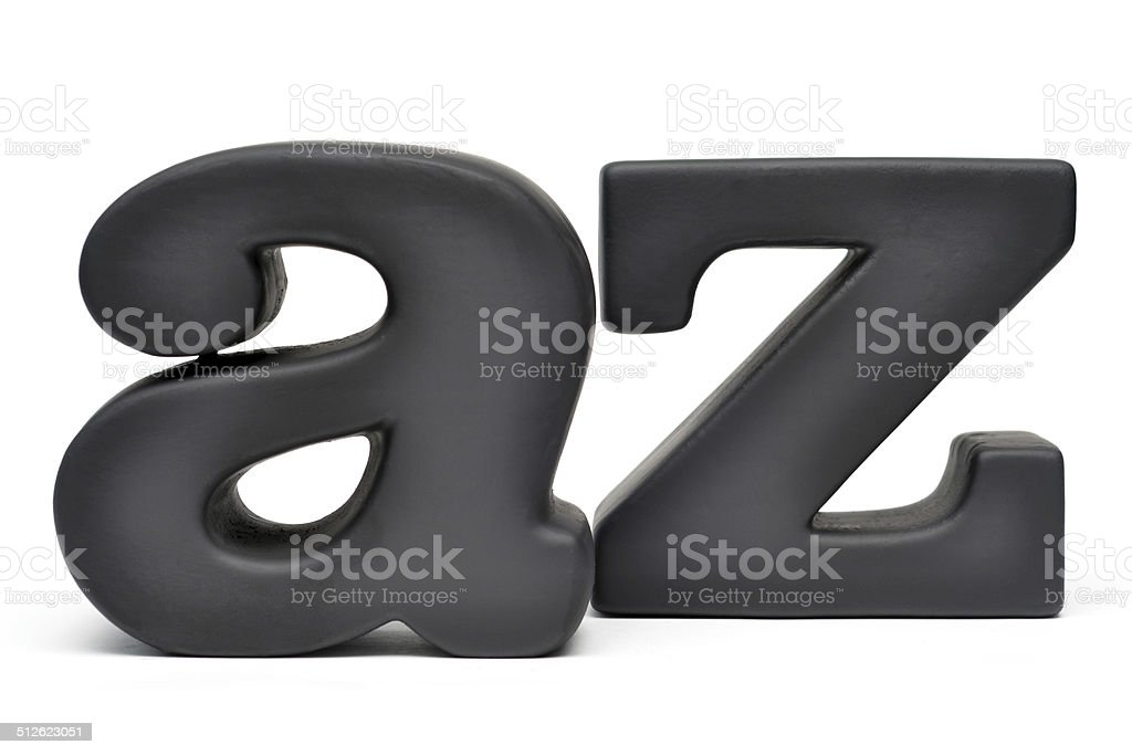 From A to Z stock photo