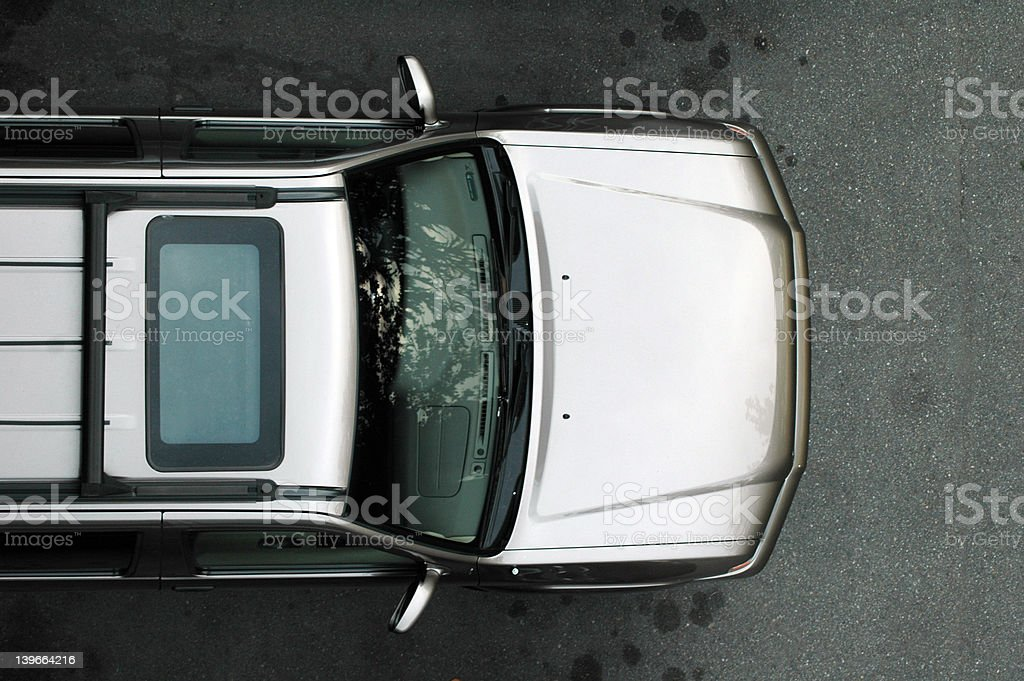 SUV from Above royalty-free stock photo