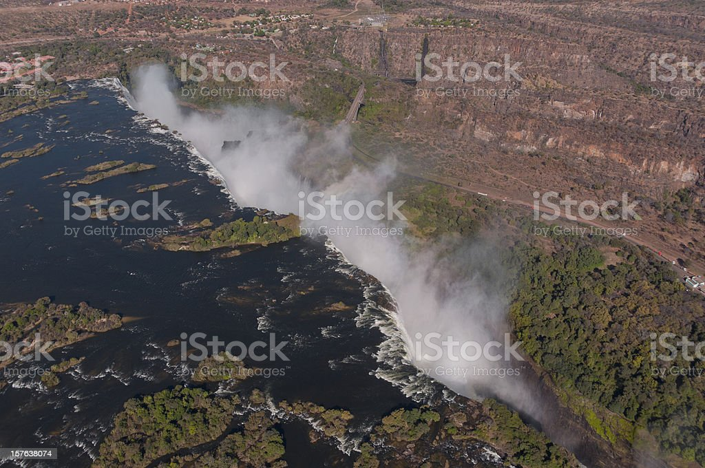 From above Victoria Falls royalty-free stock photo