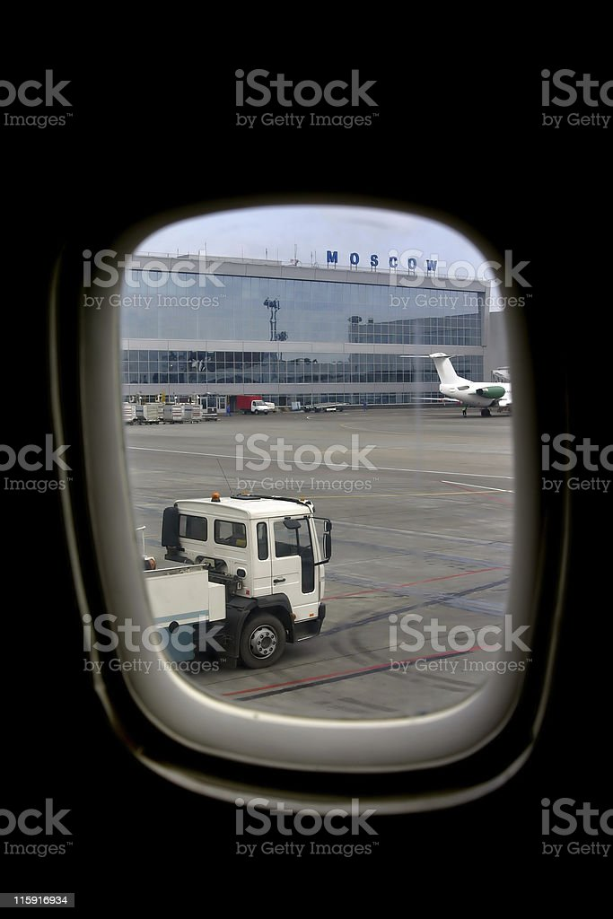 from an airplane royalty-free stock photo