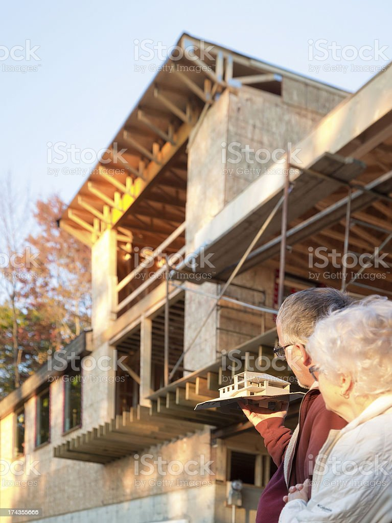 From architect Model to Construction reality royalty-free stock photo